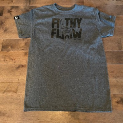 Adult Charcoal Grey T-Shirt (Stacked Logo)